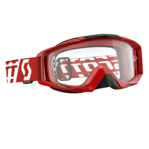 SCOTT TYRANT BRILLE - solid red / clear works