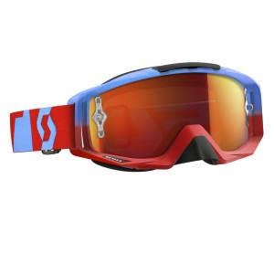 SCOTT TYRANT BRILLE - oxide red blue / orange chrome works