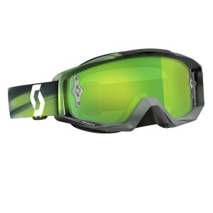 SCOTT TYRANT BRILLE - speed grey green / green chrome works