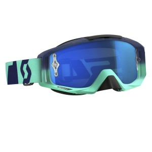SCOTT TYRANT BRILLE - oxide turquoise blue / electric blue chrome works