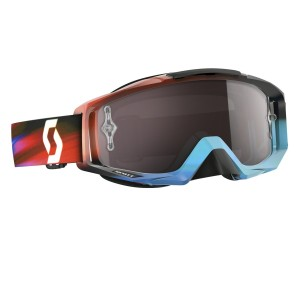 SCOTT TYRANT BRILLE - speed blue red / silver chrome works