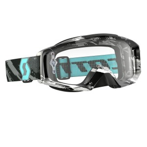 SCOTT TYRANT BRILLE - zebra grey turquoise / clear works