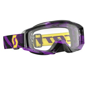 SCOTT TYRANT BRILLE - zebra purple yellow / clear works