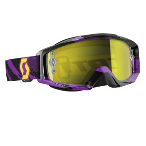 SCOTT TYRANT BRILLE - zebra purple yellow / yellow chrome works
