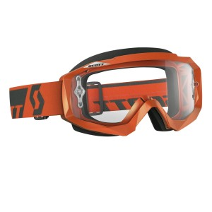 SCOTT HUSTLE MX BRILLE - orange grey / clear works