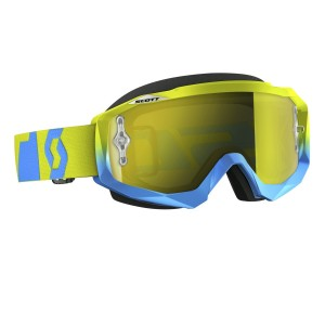 SCOTT HUSTLE MX BRILLE - oxide blue green / yellow chrome works