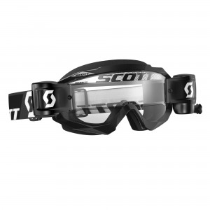 SCOTT HUSTLE MX WFS BRILLE - black clear works