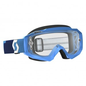 SCOTT HUSTLE MX BRILLE - blue / clear works