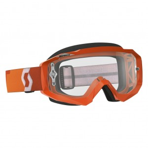SCOTT HUSTLE MX BRILLE - orange / clear works