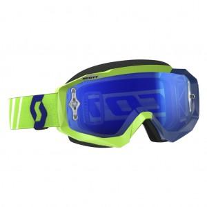 SCOTT HUSTLE MX BRILLE - green / blue electric blue chrome works