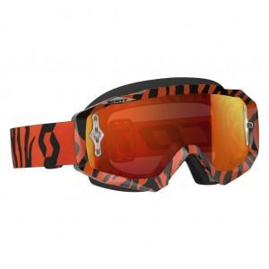 SCOTT HUSTLE MX BRILLE - black / fluo orange orange chrome works