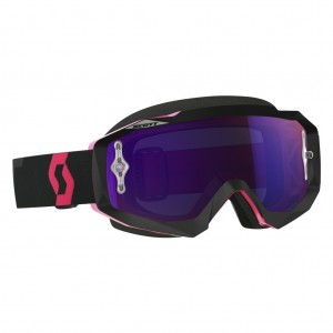SCOTT HUSTLE MX BRILLE -  black / fluo pink purple chrome works