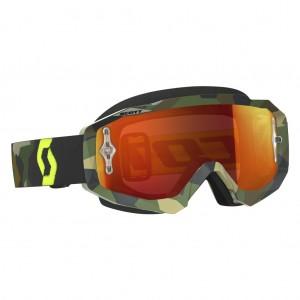 SCOTT HUSTLE MX BRILLE - grey / fluo yellow orange chrome works