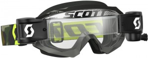 SCOTT HUSTLE MX WFS BRILLE - grey / fluo yellow clear works