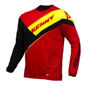 Kenny Titanium Shirt - rot schwarz neongelb