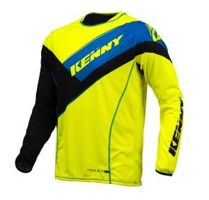 Kenny Titanium Shirt - schwarz neongelb blau