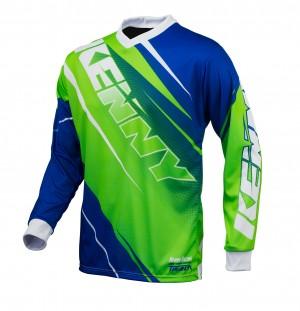 Kenny Track Shirt - neongrün blau