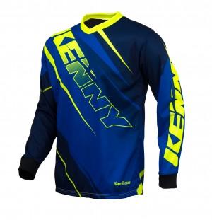 Kenny Track Shirt - blau neongelb