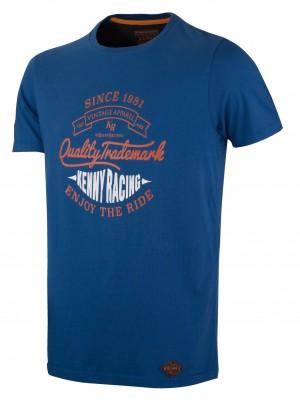 Kenny Racing Men Quality Tee Shirt - blau