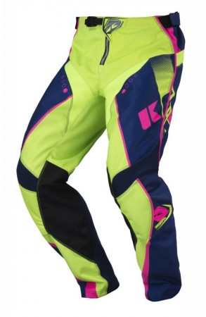 Kenny Track Pant - navy lime neonpink