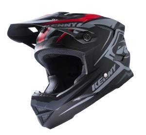 Kenny Bike Helm Scrub - schwarz grau rot