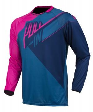 pull-in Race BMX Shirt KIDS - blau pink navy