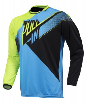 pull-in Race BMX Shirts - cyan lime schwarz