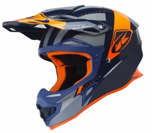 Kenny Titanium Fiberglas Helm - navy grey orange