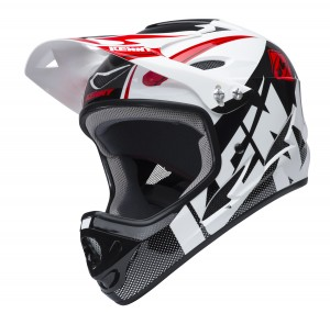Kenny Bike Helm Down Hill - weiß schwarz