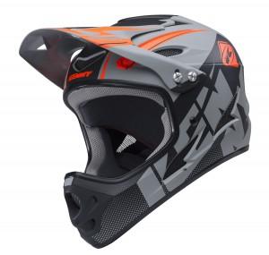 Kenny Bike Helm Down Hill - grau schwarz