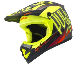 pull-in Race Helm - neongelb