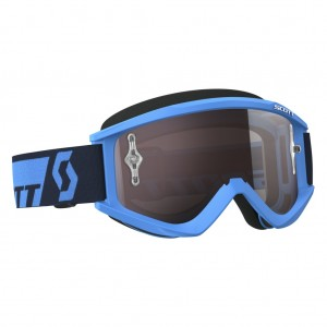 SCOTT RECOILXI BRILLE - blue silver chrome works